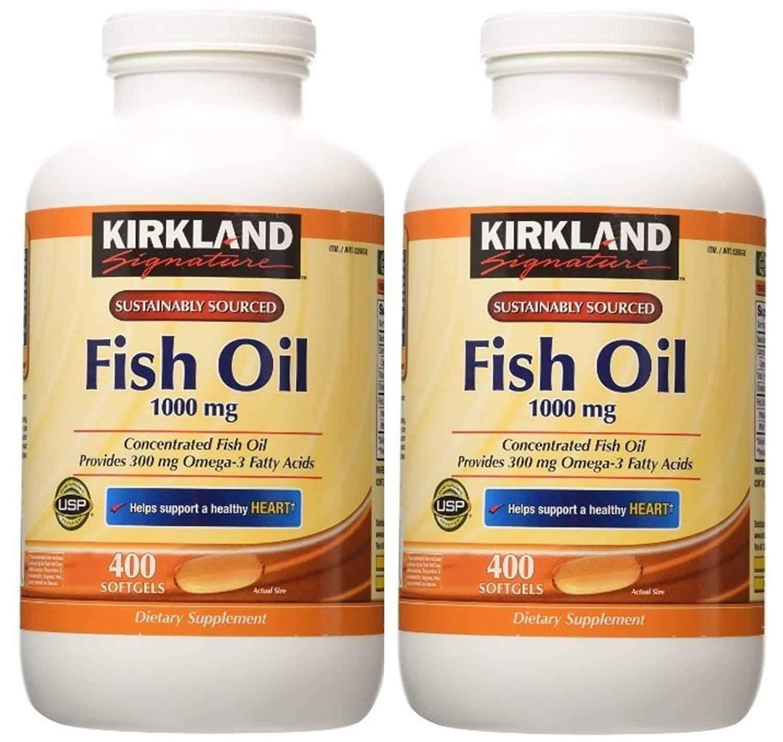 viên uống dầu cá omega 3 Fish Oil 1000mg của Kirkland Signature