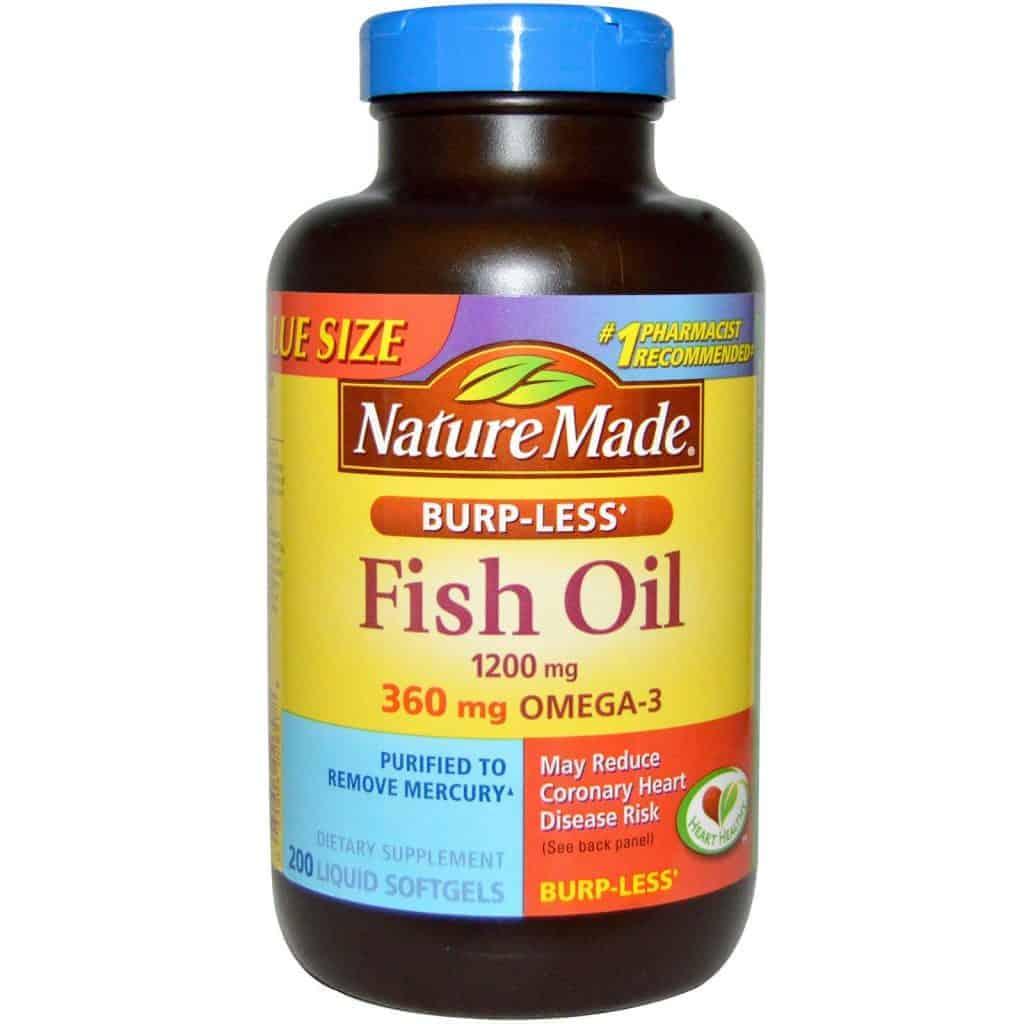 Dầu cá Nature Made giúp bổ mắt, bổ não, tốt cho tim mạch
