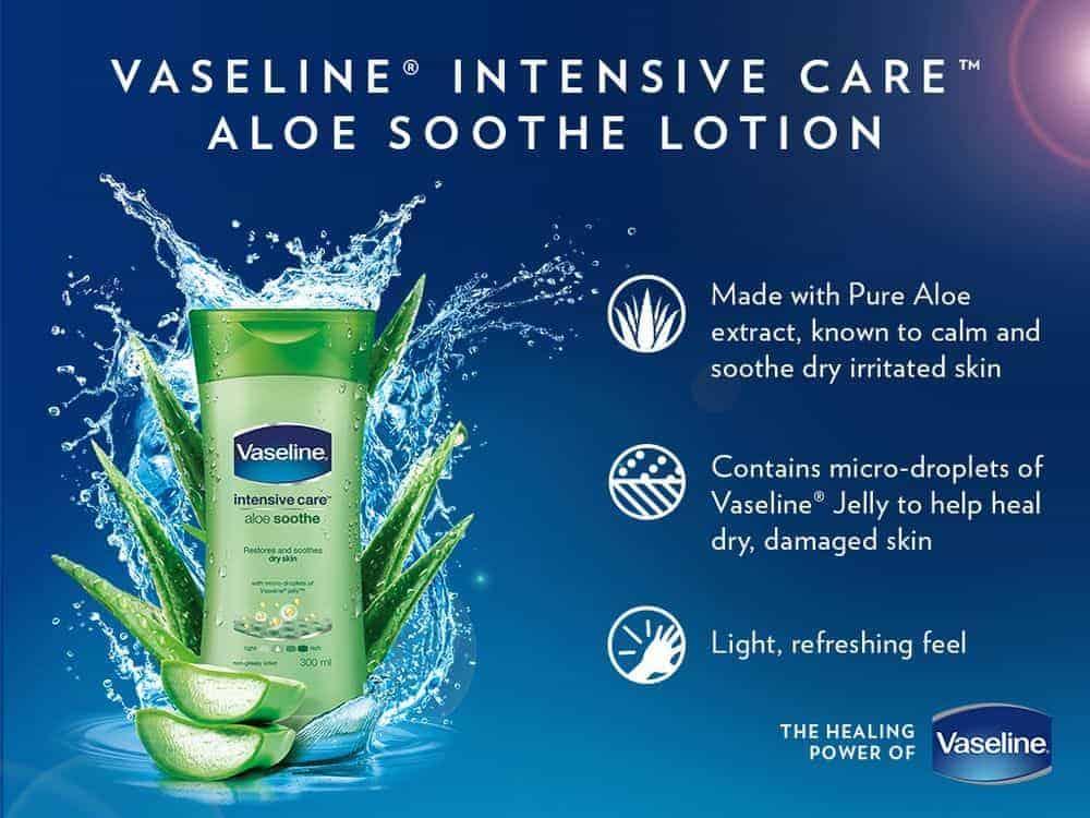 Công dụng của Vaseline Intensive care hương aloe soothe
