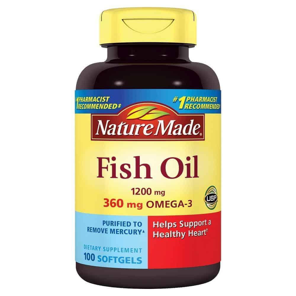 Dầu cá bổ mắt Fish oil cung cấp đủ hàm lượng omega 3 mà cơ thể cần mỗi ngày